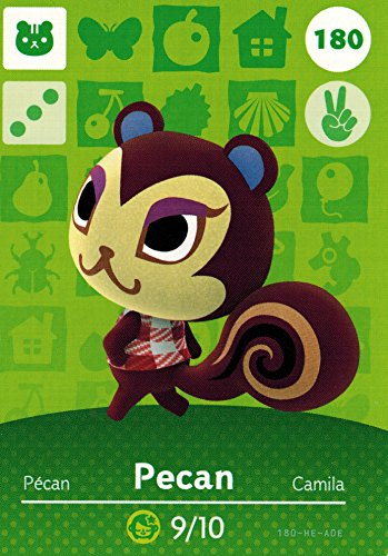- Nintendo Animal Crossing Happy Home Designer Amiibo Card Pecan 180/200 USA Version
