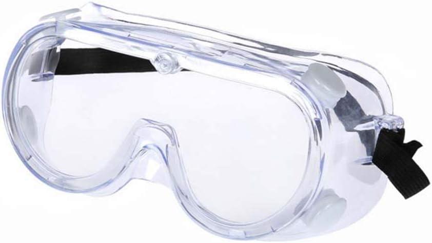 Gafas de Seguridad transparentes CE certificación,gafas de protección gafas protectoras trabajo antivaho antipolvo para laboratorio,trabajo(La correa es negra o blanca y se enviará al azar)
