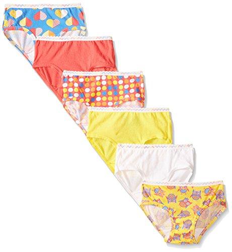 Fruit of the Loom Toddler Girl Hipster Underwear, 6-Pack