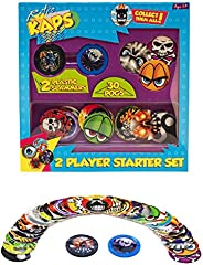 Pog Retro Kaps 2-Player Starter Set Game Includes: 30 Pogs & 2 Slam