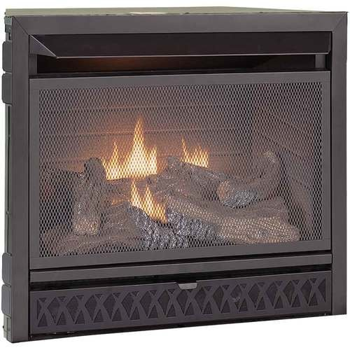 Duluth Forge Dual Fuel Ventless Fireplace Insert - 26,000 BTU, T-Stat Control (Fireplace Direct Inserts Gas Vent)