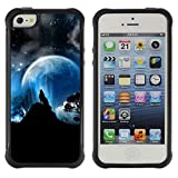 img - for God Garden@ Full Moon Wolf Wolves Howl Stars Rugged Hybrid Armor Slim Protection Case Cover Shell For iphone 5S CASE Cover ,iphone 5 5S case,iphone5S plus cover ,Cases for iphone 5 5S book / textbook / text book