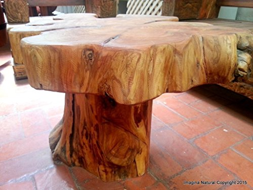 Naturally Unique Cypress Tree Trunk Handmade Coffee Table - Log Rustic Chilean - FREE WORLDWIDE SHIPPING Living World Logs