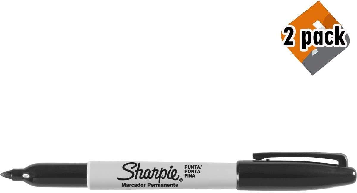 Sharpie marcadores permanentes, punta fina, negro, 12 unidades: Amazon.es: Oficina y papelería
