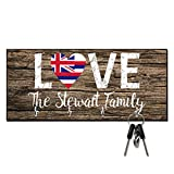Personalized Love Hawaii State Flag Key Hanger