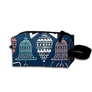 HYHYFGSSD Navy Christmas(7882) Makeup Bag Zipper Pouch Purse Portable Storage Pouch Bag Handbag