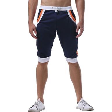 0eab0a92a8 LIN Soldes Shorts et Bermudas Hommes Maillot de Bain Surfer Natation Cordon  de Serrage