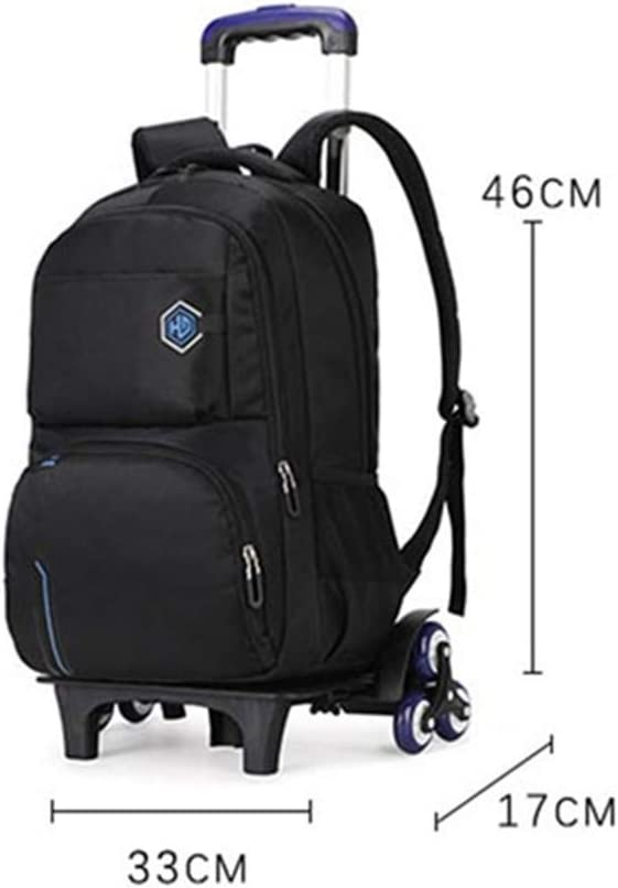 MITOWERMI Rolling Backpack for Boys Wheeled Backpack Trolley School Bags Travel Luggage