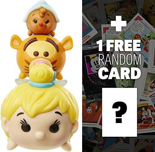 Tinker Bell, Tigger, Suzy: Disney Tsum Tsum 3-Micro-Figure Pack Series #3 + 1 FREE Classic Disney Trading Card Bundle -