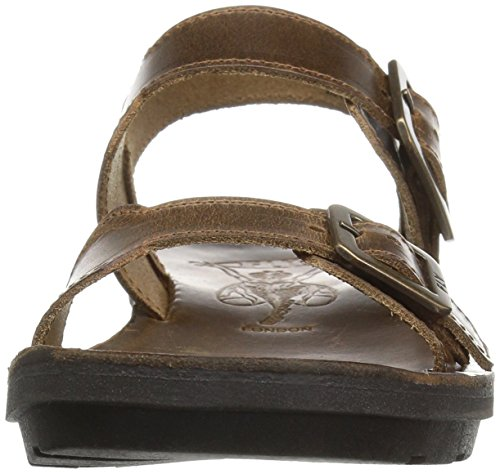 Fly London Kvinners Maro911fly Flat Sandal Kamel Brindle ...