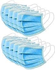 MASK DO TWARZY - 3-warstwowy - 50 szt. - osłona nosa i ust z 3-warstwowym materiałem, elastyczne pętle na uszy i wygodna uniwersalna konstrukcja dla dorosłych i dzieci