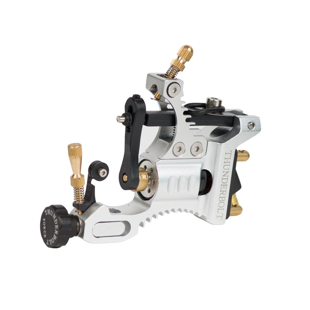 Thunderbolt Force Rotary Tattoo Machine Gun Black Space Aluminum Frame for Liner and Shader EZTAT2
