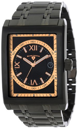 Swiss Legend Men's 40012-BB-11-RN-RA Limousine Black Textured Dial Black Ion-Plated Stainless Steel Watch