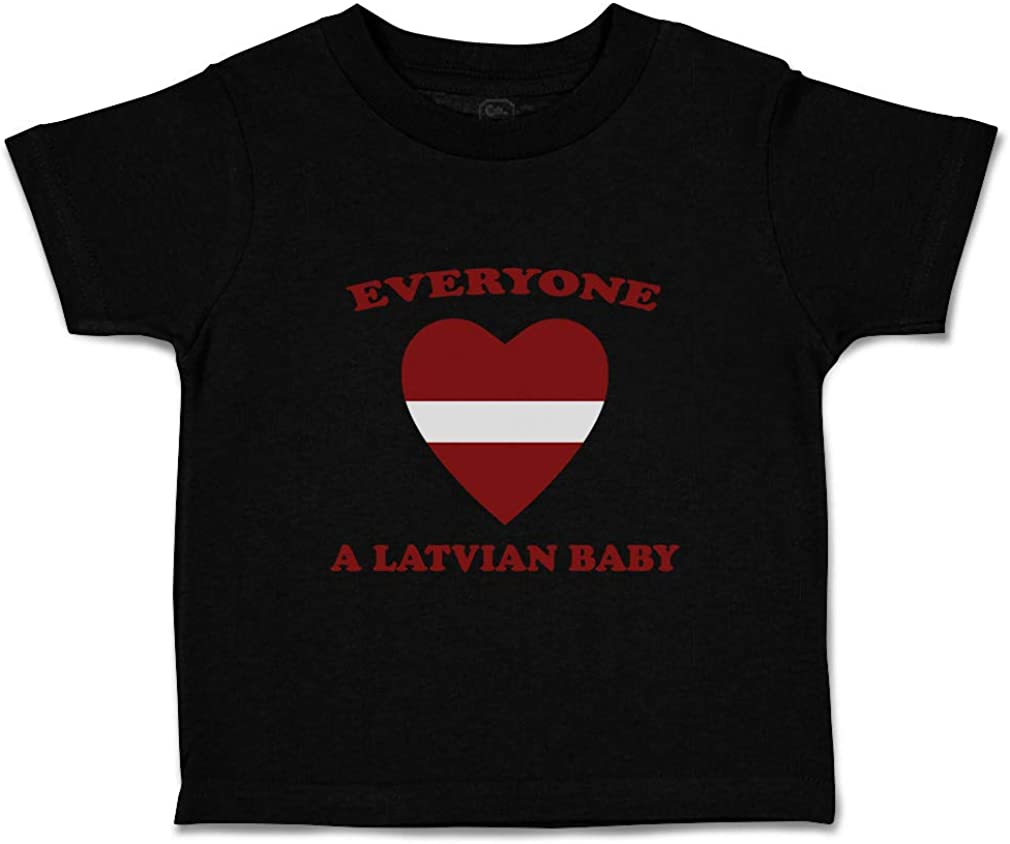 Custom Baby /& Toddler T-Shirt Everyone Loves Latvian Cotton Boy Girl Clothes