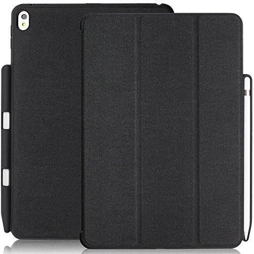 KHOMO iPad Pro 10.5 Inch & iPad Air 3 2019 Case with Pen Holder - Dual Charcoal Grey Super Slim Cover with Rubberized Back and Smart Feature (Sleep & -