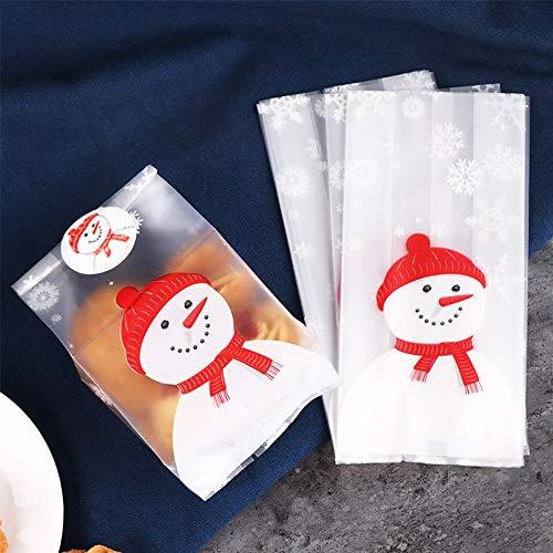 50 PC lindo Regalos de l bolsas de galletas de Navidad de ...