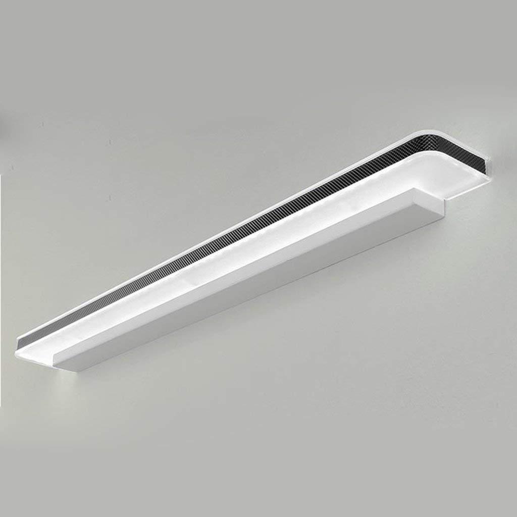 FXING & Bad Beleuchtung LED-Spiegel vorne Licht Badezimmer Badezimmer Toiletten Schminktisch Moderne Wasserdichte Nebel kostenlos Stanzen Wand Lampe Licht (Farbe  weißes Licht-12 W 50 cm)
