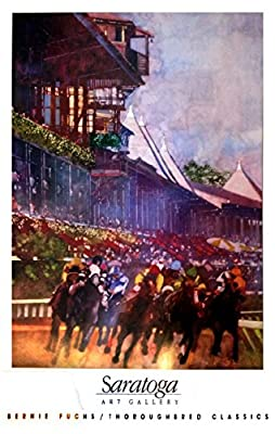 Saratoga Race Course - Rare Vintage Print by Famed Illustrator Bernie Fuchs