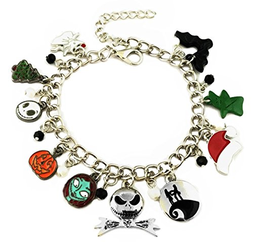 Mainstreet247 Nightmare Before Christmas 10 Themed Charms Novelty Charm Bracelet