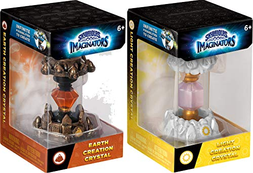 Earth and Light Skylanders Imaginators Creation Crystal 2-Piece Bundle - Earth Rocket and Light Rune Set (Ps3 Games Spongebob)
