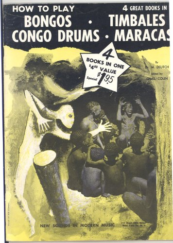 How To Play Bongo-Timbales-Congo Drums-Maracas 4 Great Books in - Bongos Play