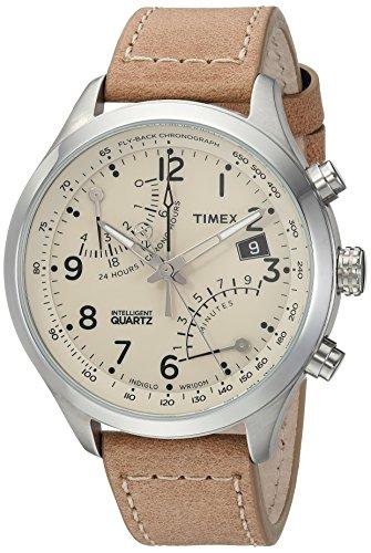 Timex Men's TW2R55200 Intelligent Quartz Fly-Back Chronograph Tan Leather Strap Watch