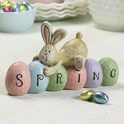 Spring Bunny Table topper - Spring Easter Party Centerpiece Decorations Room Decor - By 4E's Novelty (Table Centerpieces Easter)