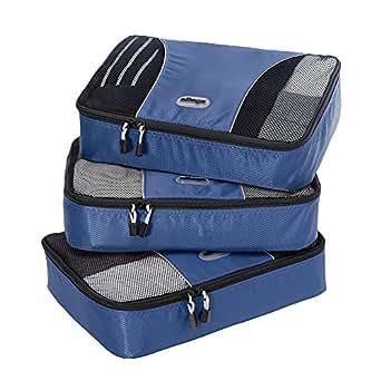 eBags Medium Packing Cubes - 3pc Set (Denim)