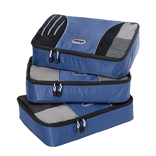 eBags Medium Packing Cubes - 3pc Set (Denim)