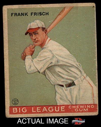 1933 Goudey # 49 Frankie Frisch St. Louis Cardinals (Baseball Card) Dean's Cards 2 - GOOD Cardinals 51jea8-ZfUL