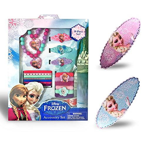 Best Frozen Jewelry - Elsa and Anna 18 Pieces Set - Disneys Frozen Deluxe Jewelry Kit includes BONUS Set of Hair Pins + 3 Coloring + 2 Origami Downloadable books