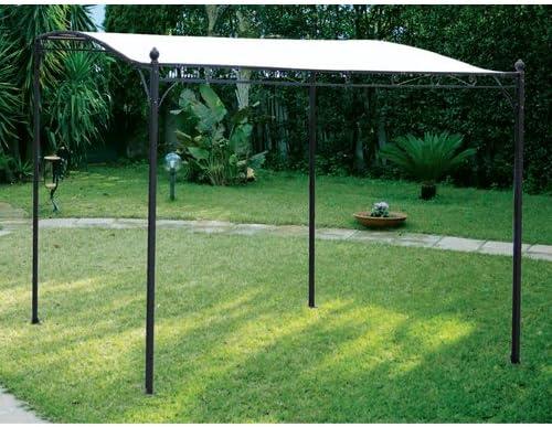 Gazebo Metallo Da Giardino.Gazebo In Ferro Da Giardino Per Esterno Cm 3 X 2 5 Ecru Amazon It Casa E Cucina