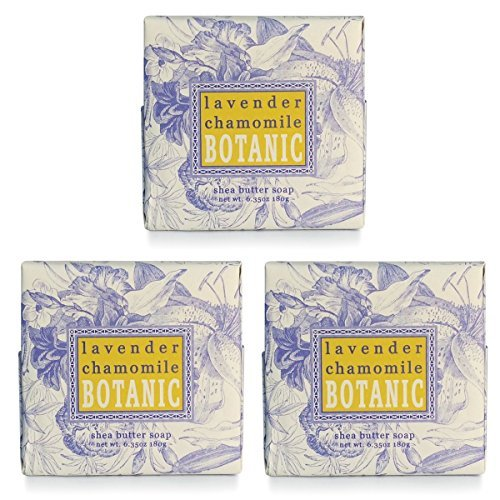 (Greenwich Bay LAVENDER CHAMOMILE Spa Soap, Enriched with essential oils of Lavender and Chamomile, Shea Butter, and Cocoa Butter. No Parabens, No Sulfates 6.35 Oz. (3 Pack))