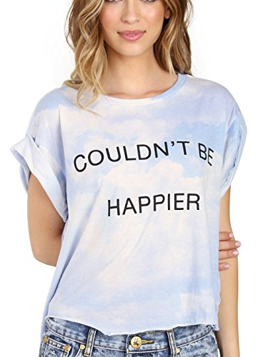 WILDFOX Couldn't Be Happier Jagged Edge Tee Multi