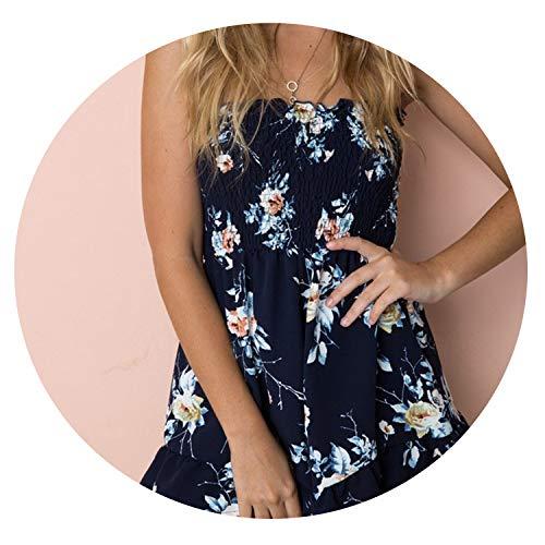 (Print Chiffon Playsuit Women Summer Sexy Off Shoulder Halter Sleeveless Boho)