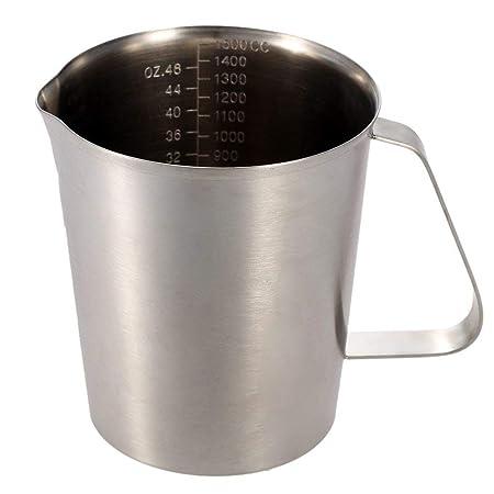 Voolok Taza medidora con Mango, 1500 ml, para Leche, café, Agua ...