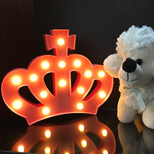 QiaoFei 3D Crown Marquee Sign Light,LED Queen Princess Kings