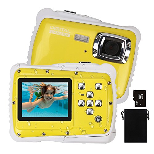 DECOMEN Kids Digital Camera, Underwater Camera Waterproof Ca