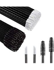 Disposable Makeup Applicators, MORGLES 100Pcs Lipstick Applicator Wands 100Pcs Eyelash Mascara Wands Lip Gloss Lipstick Tester Eye Lash Brush