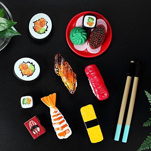 Juego de Frutas para Cortar Verduras japonesas Modelo Sushi Puzzle Pretend Play Toys como Regalo de Juguete o Comida de Navidad Eleganantamazing