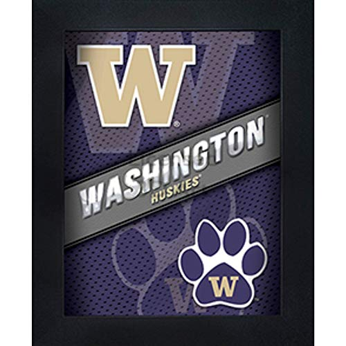 (Washington Huskies 3D Poster Wall Art Decor Framed Print | 14.5x18.5 | UW Lenticular Posters & Pictures | Gifts for Guys & Girls College Dorm Room & Bedroom | NCAA Sport Team Fan Logo & Mascot Picture)