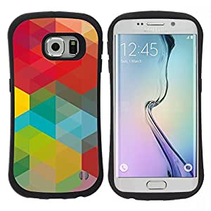 Pulsar iFace Series Tpu silicona Carcasa Funda Case para Samsung Galaxy S6 EDGE , Vert Rouge Jaune Teal Vibrant