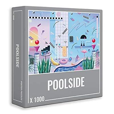 Cloudberries Poolside Puzzle Di Alta Qualit Con Stupenda Immagine Anni 80 1000 Pezzi