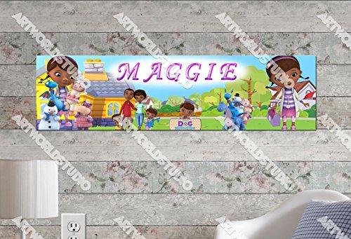 Personalized Doc Mcstuffins Birthday Banner (Doc McStuffins #1- 8.5