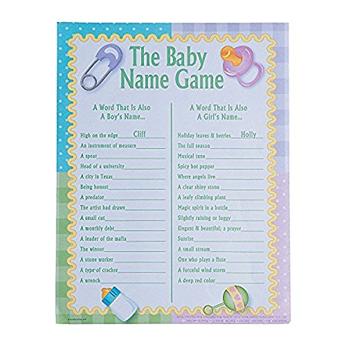 (Fun Express The Baby Name Game - Baby Shower Game (2)