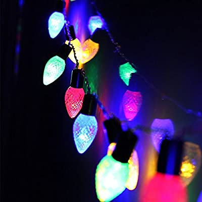 Nascco 30 Led Cone Battery Operated String Lights Outdoor Decorative Lights for Christmas Wedding Party (Multi Color)