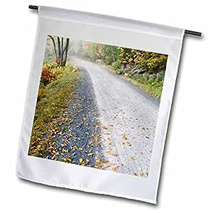 Danita Delimont - Maine - Eagle Lake carriage road, Acadia NP, Maine - US20 RKL0010 - Raymond Klass - 12 x 18 inch Garden Flag (fl_90765_1)