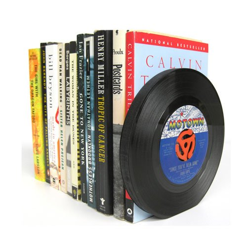 Recycled 45 rpm Vinyl Record Bookends
