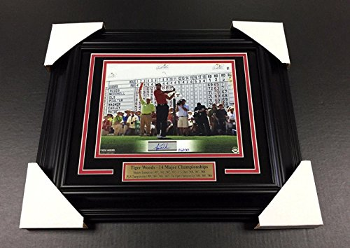 Tiger Woods Signed Photograph - 8x10 Framed Authentic Masters Champion - Upper Deck Certified - Autographed Golf Photos