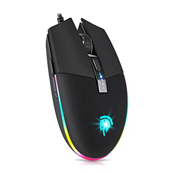 EasySMX V50 Gaming Mouse, [Mother's Day Gift] 22 Preset Macros for PUBG, PC  Gaming Mouse, Computer Mouse, RGB LED Gaming Mouse, 5 Programmable